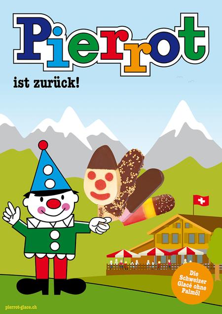 Pierrot Plakat Berge