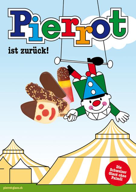 Pierrot Plakat Zirkus